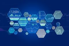 Stock exchange trading data information isolated on a uniform ba Royalty Free Stock Image