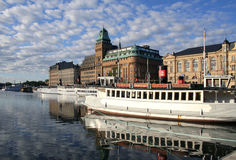 View of Stockholm. View of summer Stockholm, Sweden Royalty Free Stock Photos