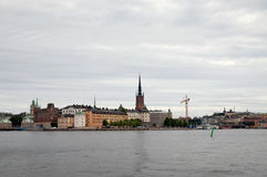 View of Stockholm. On a cloudy rainy day Stock Photo