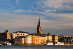 View of Stockholm. View of  Stockholm, Sweden in sunset light Royalty Free Stock Photos