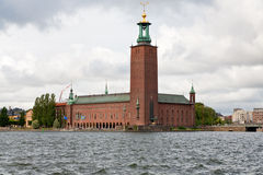 View on Stockholm City Hall, Sweden Royalty Free Stock Photos
