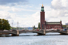 View on Stockholm City Hall, Sweden Stock Photos