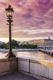 View of Stockholm at dusk, Sweden Royalty Free Stock Image