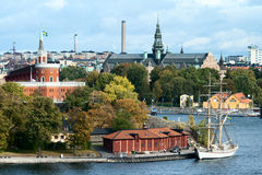 The view of Stockholm from a height Stock Photography
