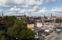 View of Stockholm from the lookout Katarina Hiss. Sweden Royalty Free Stock Photography