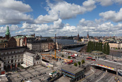 View of Stockholm from the lookout Katarina Hiss. Sweden Stock Photography