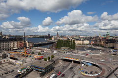 View of Stockholm from the lookout Katarina Hiss. Sweden. Royalty Free Stock Photos