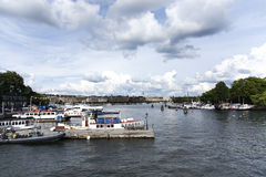 A view of Stockholm. View of Stockholm from one of its piers Royalty Free Stock Photography