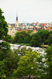 View of Stockholm with park and river. Stock Images