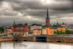 View of Stockholm sity center, Sweden Stock Images