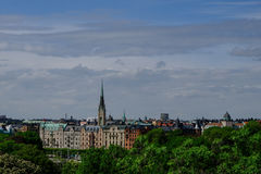 View of Stockholm from Skansen. View of Stockholm from the island of Skansen Stock Photography