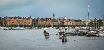 A view of Stockholm, Sweden from the Baltic sea Royalty Free Stock Photos