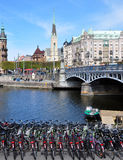 View on Stockholm, Sweden, Scandinave, Europe Royalty Free Stock Photography