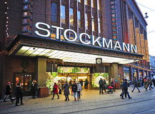 View of the Stockmann shopping centre in Helsinki Royalty Free Stock Images