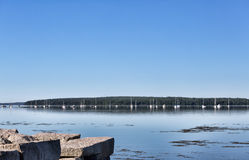 View of Stockton Springs Harbor in the late spring Royalty Free Stock Image