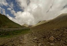 Rocky path in Indian Himalayas royalty free stock images