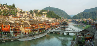 View of stone bridge in Fenghuang Stock Photo