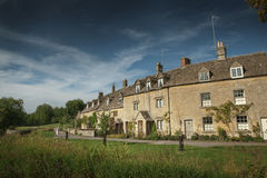 View of stone cottages in Lower Slaughter, Cotswold, England Stock Photography