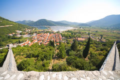 View from Stone fortress on the city Royalty Free Stock Photography