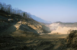 View of Stone-pit in Savoy Stock Images