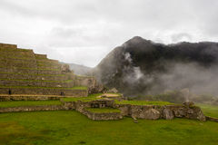 View of the stone terraces and walls Royalty Free Stock Photography