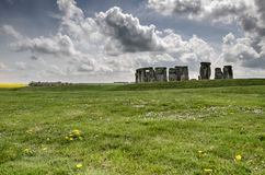 View of Stonehenge Stones. Color image of the historical place of Stonehenge during autumn royalty free stock photo