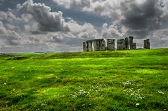 View of Stonehenge Stones. Color image of the historical place of Stonehenge during autumn royalty free stock photography