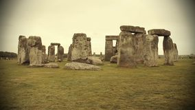 View of the Stonehenge. UK stock video