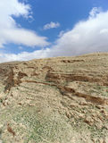 View of the stony canyon in the Judean Desert near Bethlehem. Israel. Stock Photography