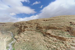 View of the stony canyon in the Judean Desert near Bethlehem. Israel. Stock Image