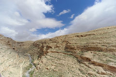View of the stony canyon in the Judean Desert near Bethlehem. Israel. Stock Photo