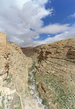 View of the stony canyon in the Judean Desert near Bethlehem. Israel. Royalty Free Stock Images