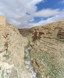View of the stony canyon in the Judean Desert near Bethlehem. Israel. Royalty Free Stock Image