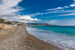 The View of Stony City Beach in Nice-Nice,France Royalty Free Stock Photos