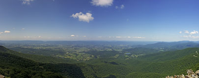 View From Stony Man Lookout, Shenandoah National Park Royalty Free Stock Images