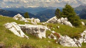 Stubai Alps from Dolomites stock photo