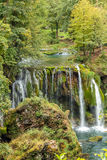 View of stony waterfall and small river Stock Image