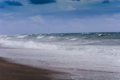 View of storm seascape Stock Images