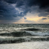 View of storm seascape Stock Photography