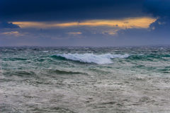 View of storm seascape Stock Image