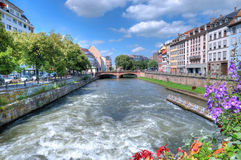 View of Strasbourg. From the bridge in summer day Stock Image