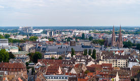 View of Strasbourg from the cathedral Stock Photo