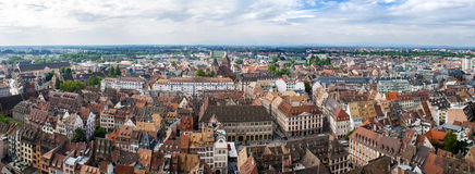View of Strasbourg from the cathedral Royalty Free Stock Images