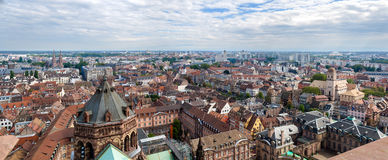View of Strasbourg from the cathedral Stock Photos
