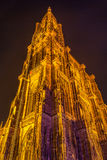 View of Strasbourg Cathedral from ground Stock Photos