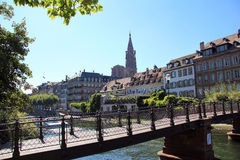 View of Strasbourg. The city of Strasbourg at the heart of Europe Stock Photos