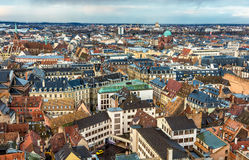 View of Strasbourg from the roof of the cathedral Royalty Free Stock Photography