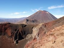 Stratovolcano Ngauruhoe and Red crater Stock Photography