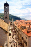 View of the Straun in Dubrovnik Stock Photo