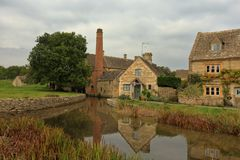 Lower Slaughter village view royalty free stock photos
